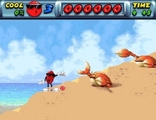 He's so cool he's not gonna bother killing those crabs, he's gonna play with his yo-yo